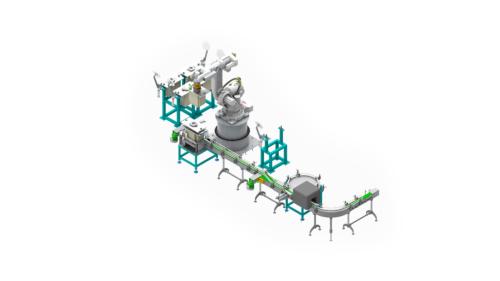 Robotic Carton Packer for Bottles