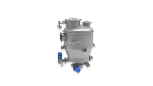 Silo with Integrated Screw Conveyor and Valve